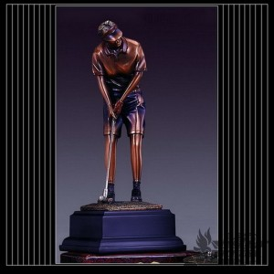 Bronzed Golf Figure Sculpture