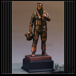Bronzed Air Force Sculpture