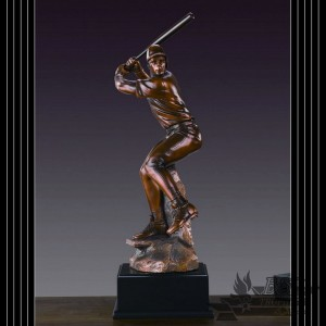 Bronzed Baseball Sculpture