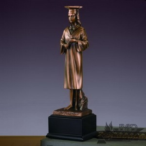 Bronzed Female Graduate Sculpture